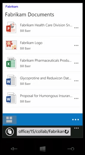 SharePoint 2016 improves the way that pages render on mobile devices.