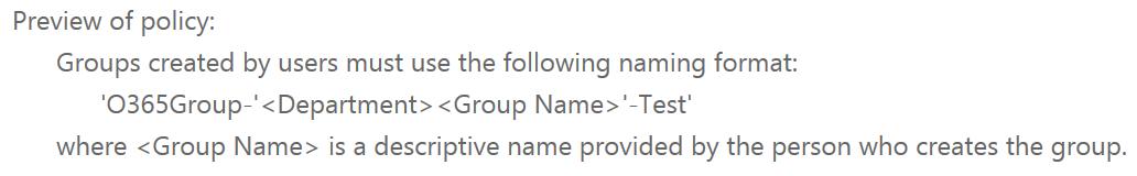 Understanding Groups naming policies